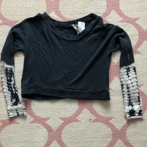 Navy sweater with tie dye sleeves, never worn